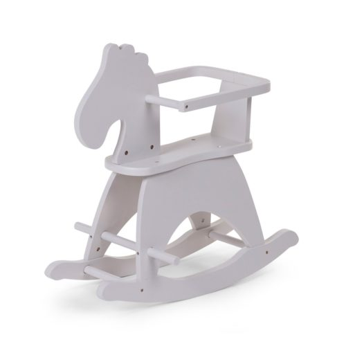 Balancín caballo de madera de color gris para niños de Childhome