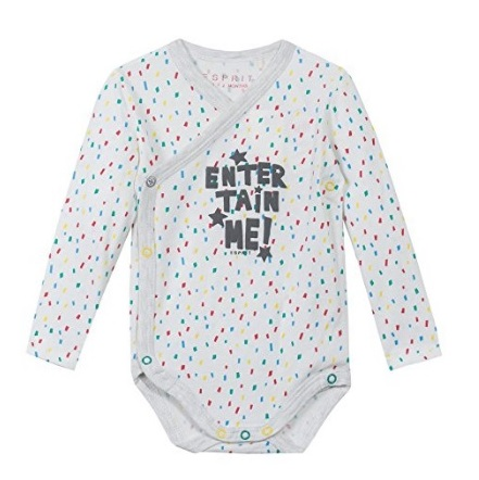 Body o pelele para bebé blanco con confetti Entertain me! de Esprit Kids