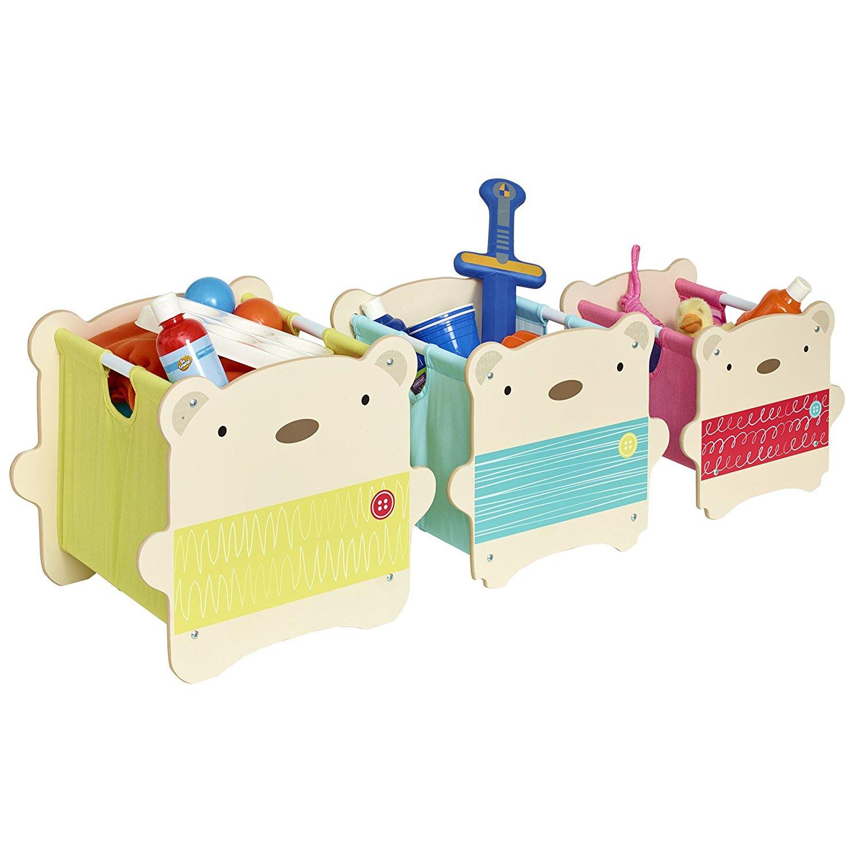 Tres cajas apilables con forma de oso para juguetes de - Cajas para guardar juguetes ...